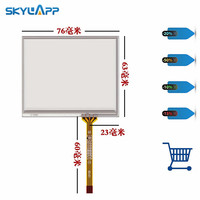 New 3.5'' inch touch panel 4 wire 76mm*63mm Touch screen socket handwriting screen external industrial glass Free shipping|Tablet LCDs & Panels| |  -