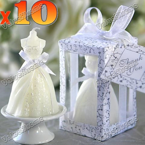 10pcs Elegant Wedding Dress Candle Birthday Party Favors Gifts In Candles From Home Garden On Aliexpress Alibaba Group