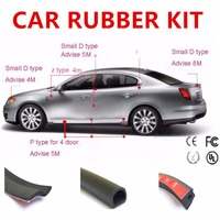 2017 CAR STYLING DIY Rubber Trim Set Small D Z P Shape Seal Anti Collision Absorption