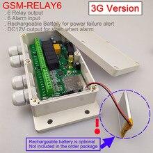 3g versão/gsm seis relé de saída placa interruptor remoto (interruptor de relé sms) bateria a bordo para desligar o alarme
