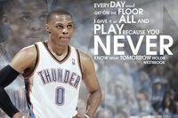 047 Russell Westbrook Oklahoma City Thunder Basketball NBA 36 X24 Poster