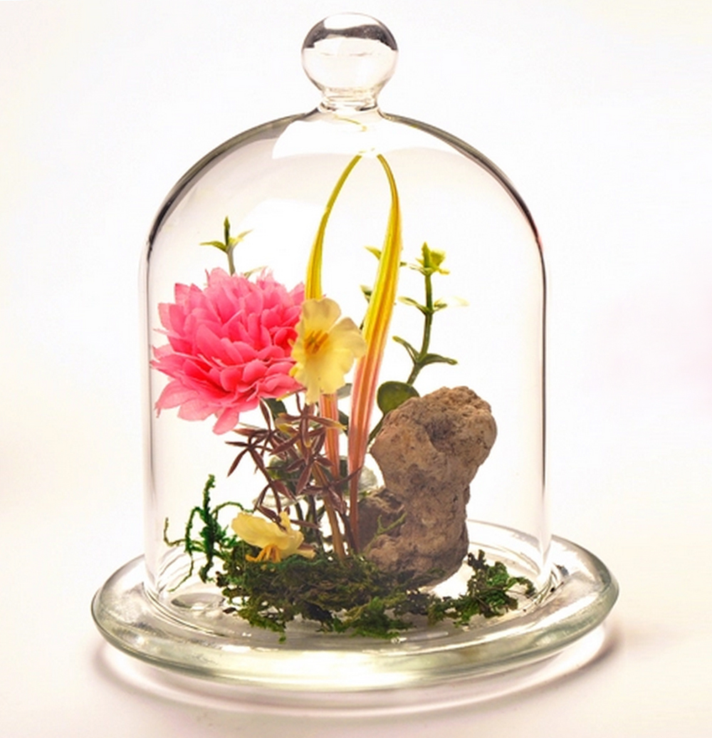 Aliexpress Com Buy 1pc Creative Decorative Beautiful Fashion Table Top Crystal Glass Cap Cover Flower Vase Home Decor Decoration Free Shipping From