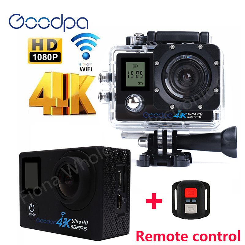 100% Original Goodpa F60/f60r Action Kamera 2,4g Fernbedienung Ultra Hd 4 Karat 12mp-action Video-kamera Wasserdicht Sport Kamera