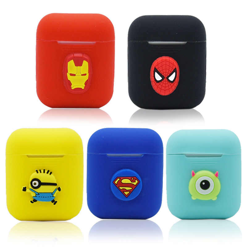 2019 New Cartoon Silicone Case For Apple Airpods Accessories Protective Decor Cover Pouch Earphone Case