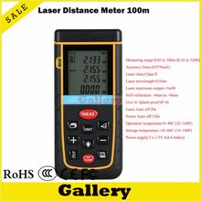On sale digital laser rangefinder 100m 328ft with Bubble Level Tool RZ100 measure Tape for Area/Volume M/in/Ft Rangefind Range finder