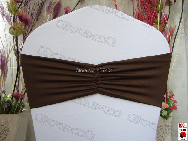 Ruffle Chair Sashes Covers For Purchase No 31 Chocolate Brown Ruffled Spandex Bands Lycra Band Expand Sash Cover Wedding Banquet