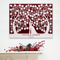 E HOME Guest Signing Signature Wedding Canvas Signing Board Canvas Painting Lover Under The Love Tree