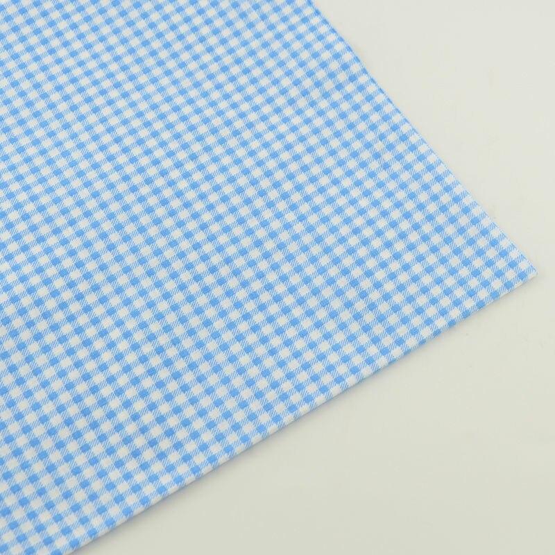 Nuevas Llegadas Diseño Ligero Azul y Blanco de Verificación Tela de Algodón Tri