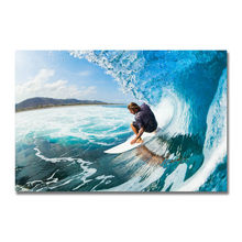 Kunst Seide Oder Leinwand Drucken Surf landschaft Poster 13x20 24x36 zoll Für Room Decor Dekoration- 001