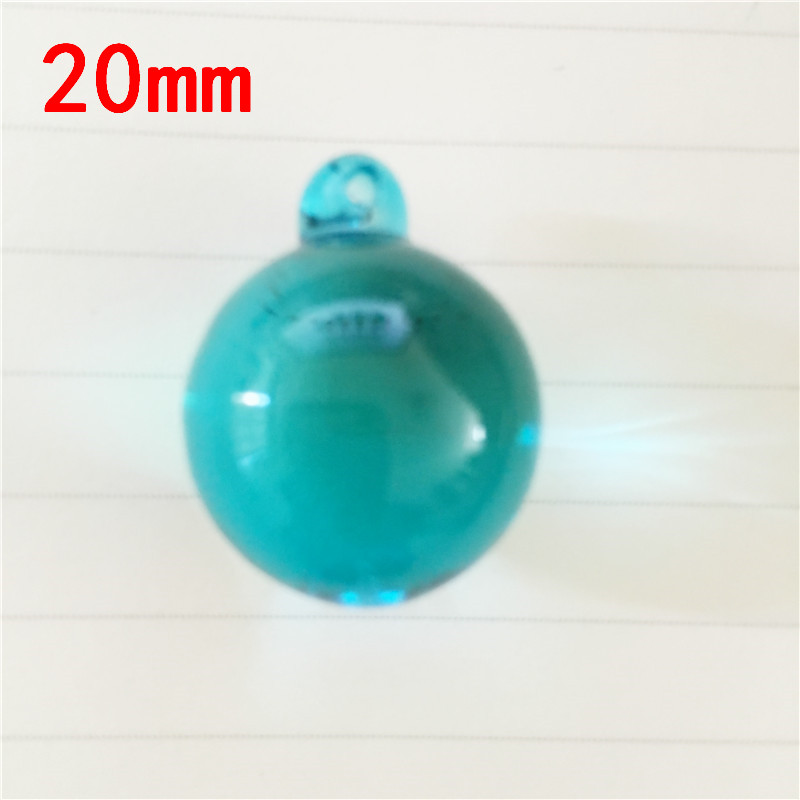 Aquamarine 30pcs Lot 20mm Crystal Smooth Balls For Chandelier Parts X Mas Event Party Supplie Lighting