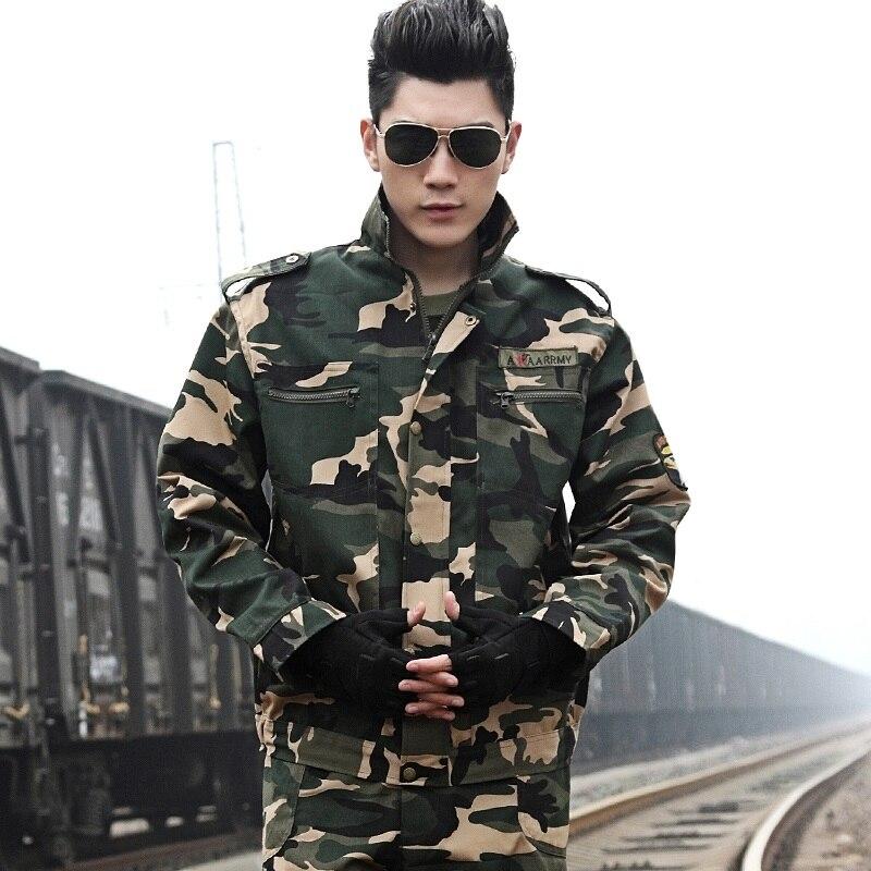(10 Set-top & Mutanda) Nuovo Maschio Uniformi Di Cotone Poliestere Camouflage Appassionati Di Militari Delle Forze Speciali Di Combattimento Arrampicata