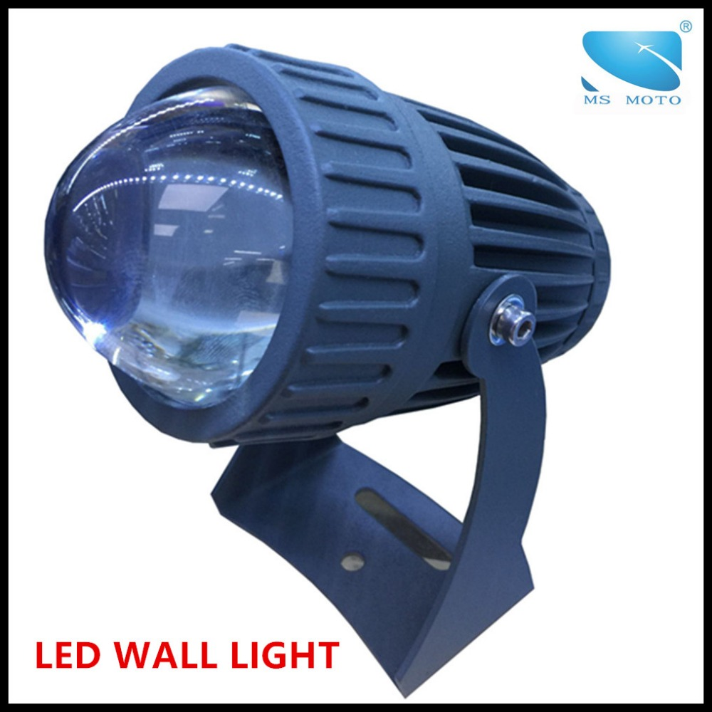 Outdoor waterproof IP65 wall lamp floor lamp LED light LED illuminator with condenser lens