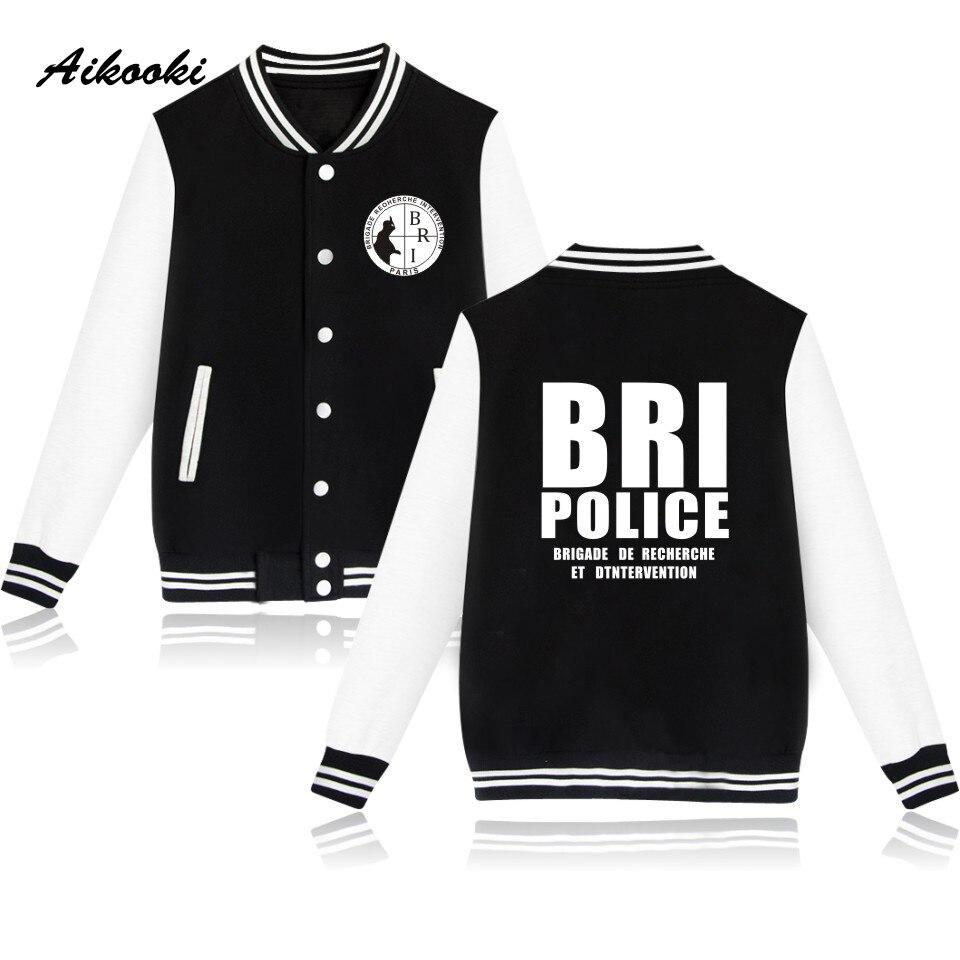 Fashion GIGN Gendarmerie BRI Police Baseball Jackets women/men Casual Unisex Sweatshirts Hoodies Kpop Men/Women Jacket Clothes