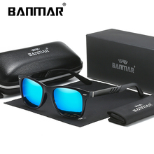 BANMAR Men NEW Fashion Sunglasses Polarized Mirror Lens AL-MG Night Vision Eyewear Accessories Driving Sun Glasses Shades UV400