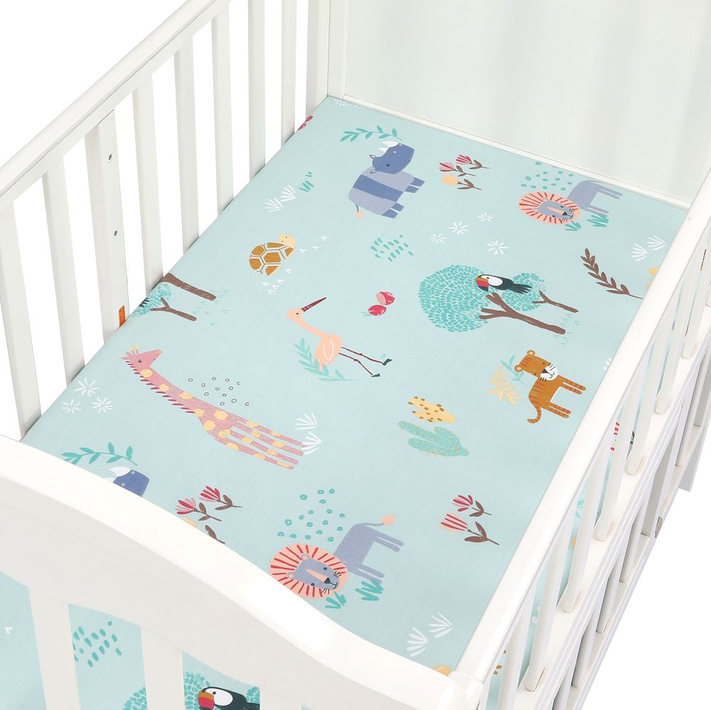 130cm*70cm Crib Fitted Sheets Soft Baby Bed Mattress Covers Newborn Toddler Bedding Set Stretchy Jersey Cotton Kids Cot Sheet