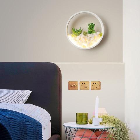 e moderno corredor lampada parede