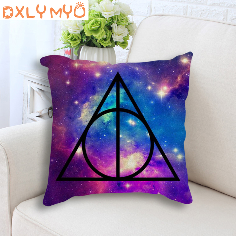 Harry Potter Cushion Seat Cushions Home Decoration Bedroom Sofa Decor 45*45cm Cotton Linen Decorative Cushion Throw Pillows