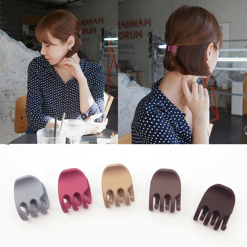 1Pcs Simple Korean Style Hair Crab Claw Women Fashion Temperament Scrub Hair Pins And Clips DIY Hair Styling Tools Free Shipping