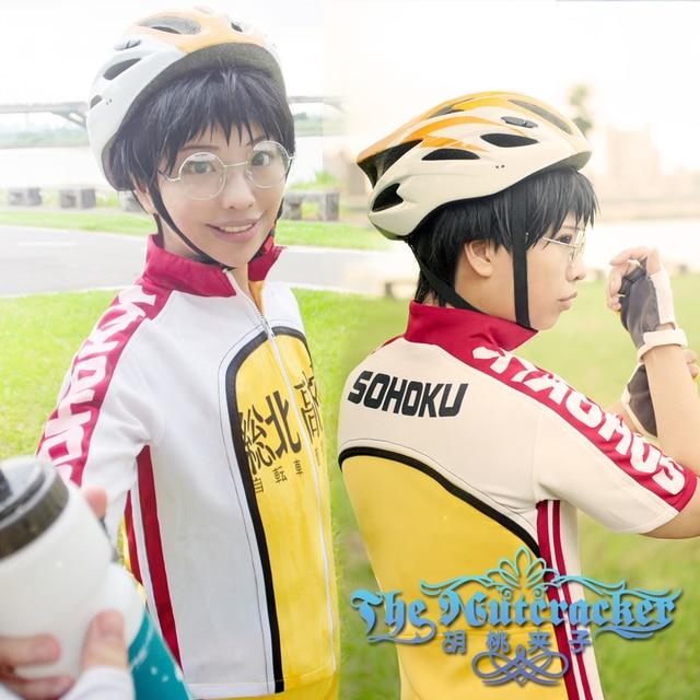 ad724c2e7 Game Anime Yowamushi Pedal Onoda Sakamichi Uniforms Suit Cosplay Costume  Jersey + Gloves
