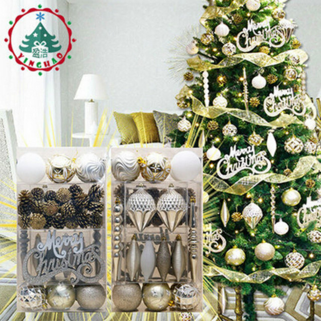 2018 navidad 52pcssets christmas tree decorations sets christmas decorations for home christmas tree ornaments