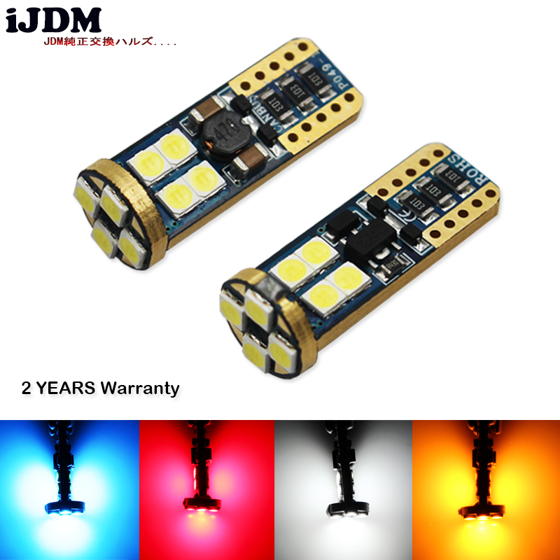 iJDM Auto T10 LED 2825 168 W5W Error Free LED Replacement Bulbs For Audi BMW Mercedes Parking Lights, License Plate Lights,6000k carprie super drop ship new 2 x canbus error free white t10 5 smd 5050 w5w 194 16 interior led bulbs mar713