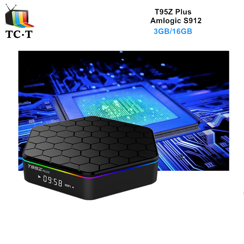 ФОТО In Stock Original T95Z plus Amlogic S912 TV BOX Octa Core 3GB 16GB Android 6.0 TV BOX 2.4GH/5GHz WiFi Bluetooth 3D 4K Kodi load