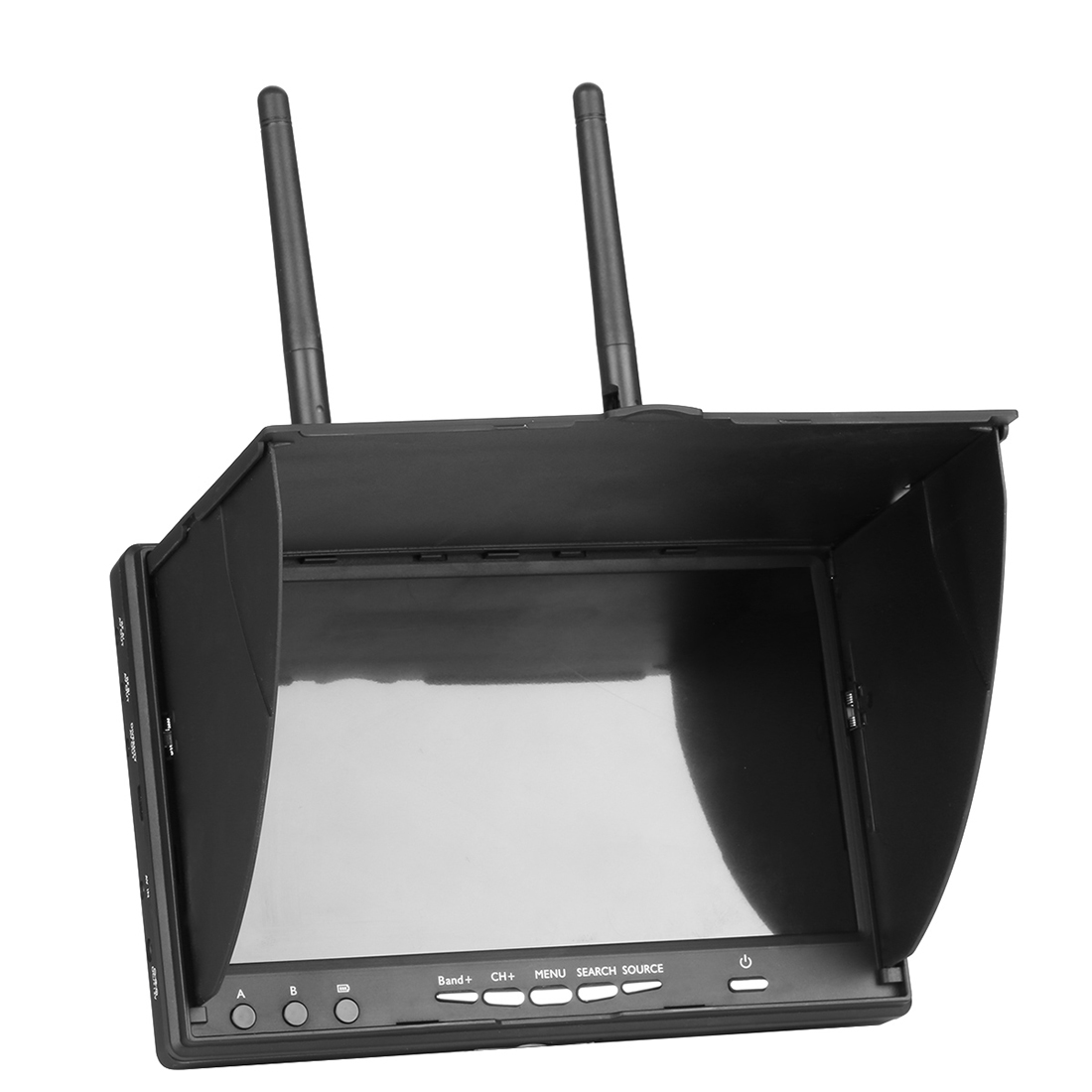 7 inch Double Receiving 5 8G 40CH AIO Display Screen with DVR Video for FPV Aerial