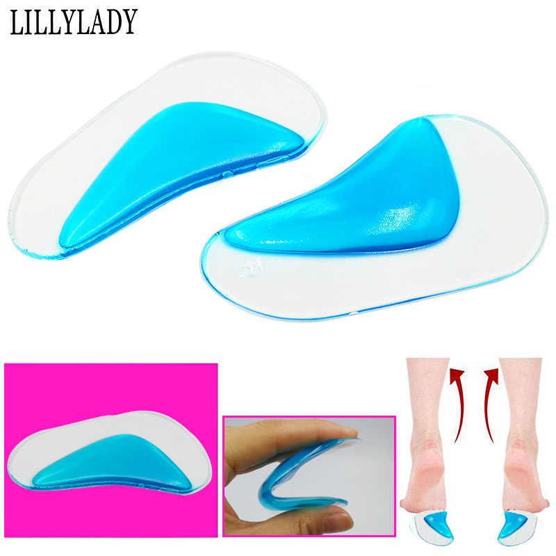 พื้นรองเท้า Orthotic Professional Arch Flat Foot Flatfoot Corrector ใส่รองเท้า Cushion ซิลิโคนเจล orthopedic pad