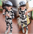 Children's Shampooers jogging tracksuits Rose cotton suit kids Top + pants children baby boys girls Camellia clothing Suit
