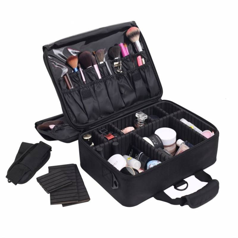 SAFEBET New Four layer Cosmetic Bag Women Beauty Makeup Storage Bag Can Set luggage Travel Organizer