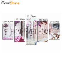 EverShine,Diamond Embroidery Flower Full Square Diamond Painting Cross Stitch Multi-picture Rhinestones Diamond Mosaic