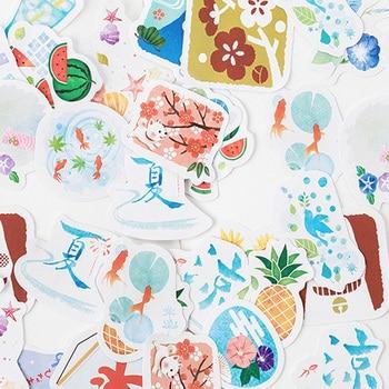 46pcs/box New Summer Wind Festival Diary Mini Paper Sticker Decoration DIY Album Diary Scrapbooking Label Sticker Stationery 20packs lot forest animal festival mini paper sticker decoration diy ablum diary scrapbooking label sticker 45 pieces into
