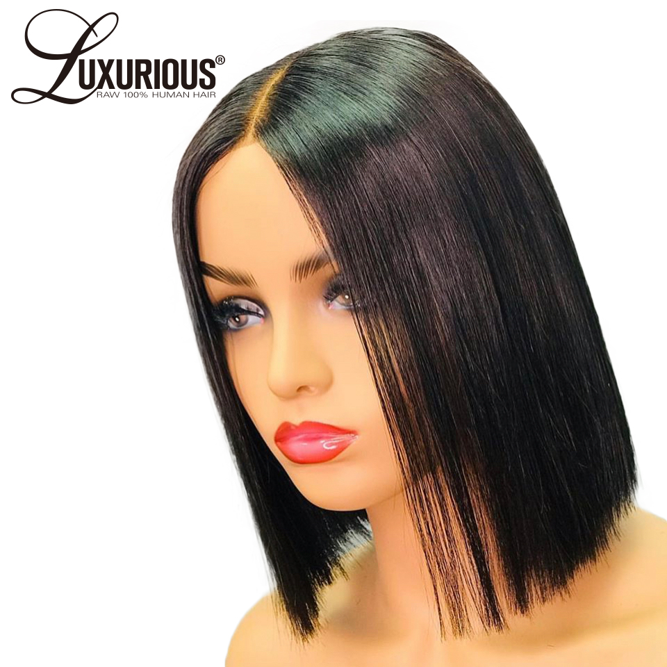 13X6 Deep Parting Space Bob Lace Front Wigs In Human Hair Lace Wig For Black Women 150% Short Bob Wig Lace Front Human Hair Wigs
