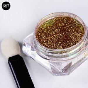 Image 4 - BORN PRETTY 8Pcs/Set Bling Mirror Nail Glitter Chameleon Powder Gorgeous Nail Art Sequins Chrome Pigment Glitters