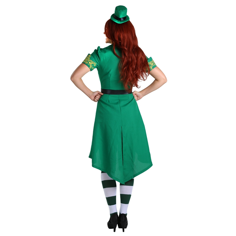 Adult Womens Spirited Chaming Irish Lucky Fairy Leprechaun Costume Prefect Green St. Patrick Day Outfit-in Holidays Costumes from Novelty u0026 Special Use on ...  sc 1 st  AliExpress.com & Adult Womens Spirited Chaming Irish Lucky Fairy Leprechaun Costume ...