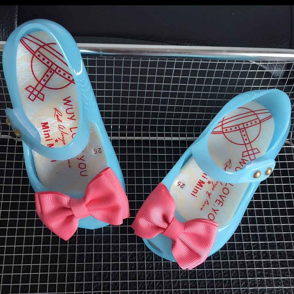 HOT Arrivals Mini LED Light Girls Sandals Bow Kids Shoes Melissa Jelly Shoes LED Flash Sandals