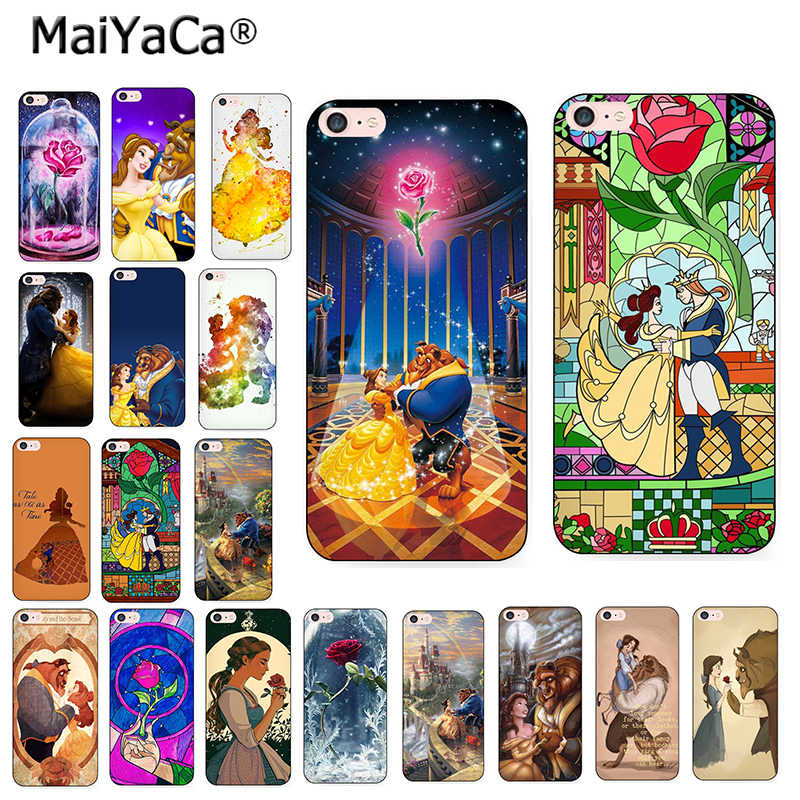 MaiYaCa For iphone 8plus Beauty Beast Rose Princess Art love quote amine phone case for iPhone 8 7 6SPlus X XS MAX XR 5S Cover