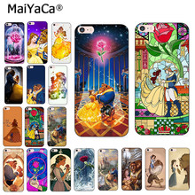MaiYaCa สำหรับ iphone 8 plus Beauty Beast Rose Princess Art love quote amine โทรศัพท์สำหรับ iphone 8 7 6 SPlus X XS MAX XR 5 วินาที Cover(China)