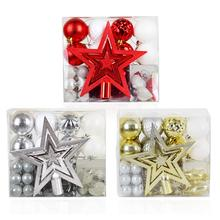 50 Pcs/lot Christmas Tree Decoration Pendant Ball Gift Package Top Star Multi-pack