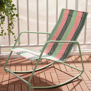 29%,Nordic Relax Metal Rocking Chair Multicolor balcony Chaise Lounger Living Room Furniture PVC Lounge Rockign Swing Chair