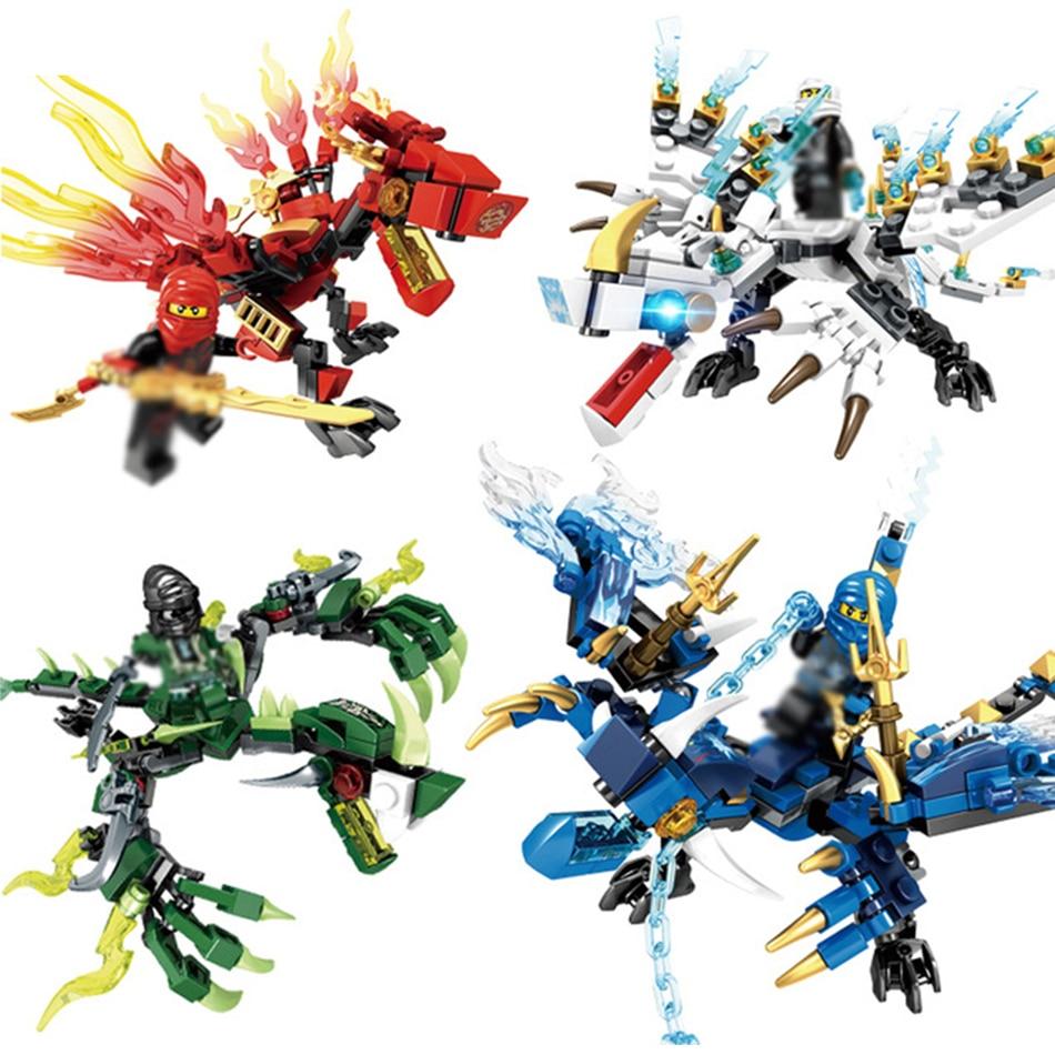 цена Sembo Ninjagos Dragon Knight Building Blocks Toys Compatible Legos Ninjago Figures Bricks Educational Toys For Children Friends онлайн в 2017 году
