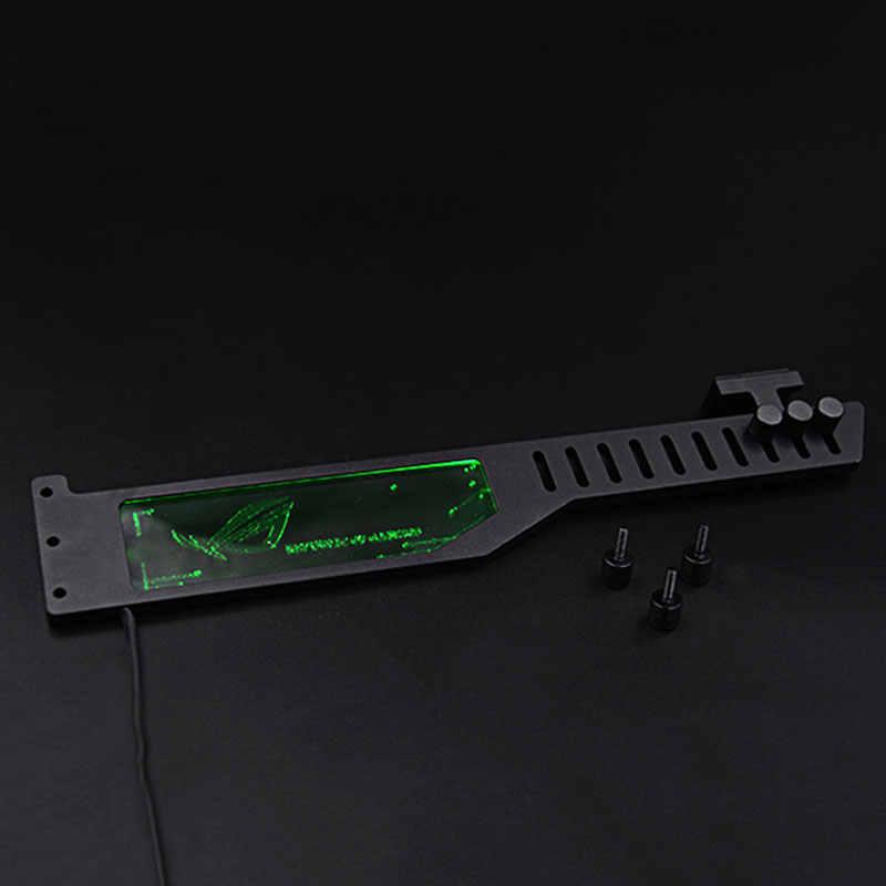 2018 видеокарта L: 300 мм стойка RGB для контроллера цветной светодиодный кронштейн антигибочный домкрат из алюминиевого сплава металлическая жидкость DIY охлаждение