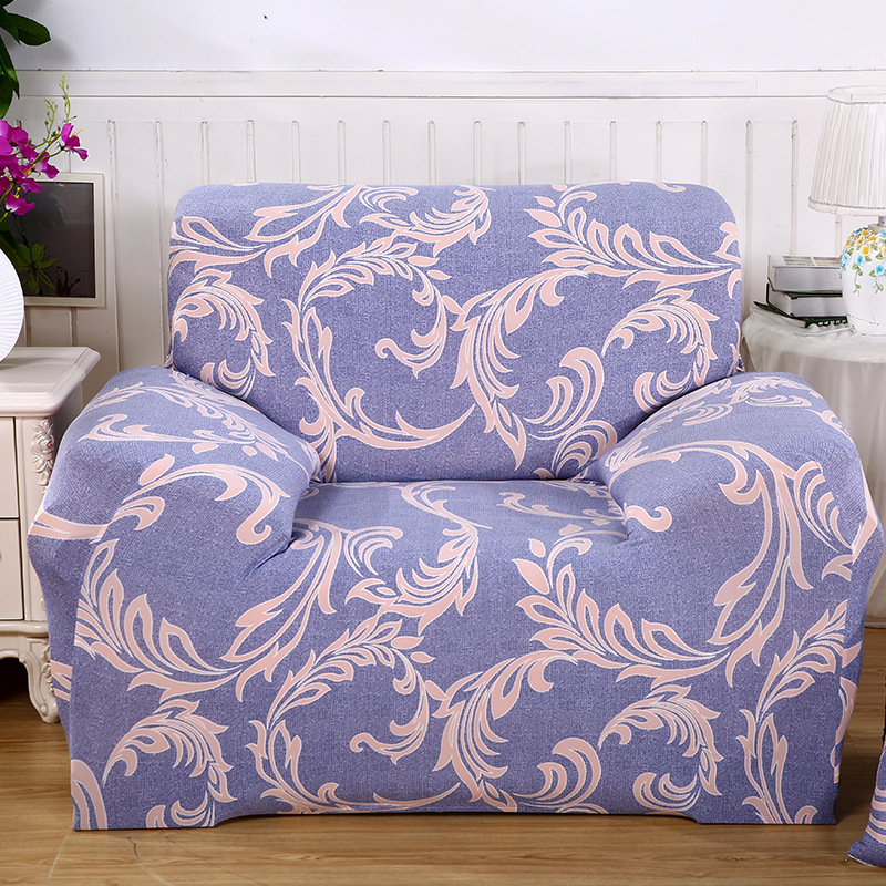 Floral Machine Washable Slip Resistant Chaise Sofa Cover