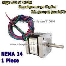 3D-принтеры Шаговый двигатель 14HS13-0804S L34mm nema 14 с 1.8 град 0.8 18 N. см с 4 проводов равно 14HY3402 и 35HS3408