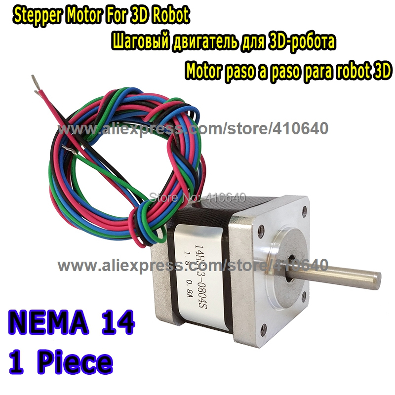 3D Printer Stepper Motor 14HS13-0804S L34mm Nema 14 with 1.8 deg 0.8 A 18 N.cm with 4 lead wires equal to 14HY3402 and 35HS3408 free shipping stepper motor 14hm08 0404s nema14 with 0 9 deg 0 4 a 4 n cm with bipolar and 4 lead wires