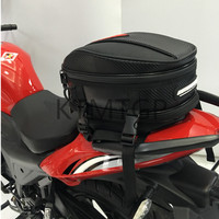 2018 motorcycle fuel tank bag tail bag waterproof locomotive multi function rear seat helmet bag (Contains rain cover)
