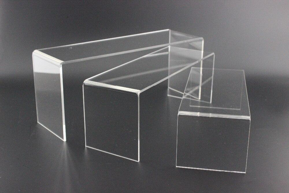 2 SETS Acrylic U shoe toy cosmetics ring display stand