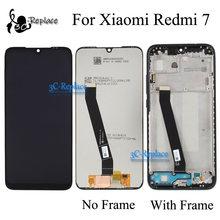 Orijinal 6.3 inç siyah/mavi Xiaomi Redmi için 7 LCD ekran LCD ekran dokunmatik ekran Digitizer meclisi ile çerçeve için Redmi 7 küresel
