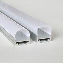 20 м(20 шт) много, 1 м за штуку, алюминиевый светодиодный профиль для светодиодных лент светильник, алюминиевый светодиодный светильник