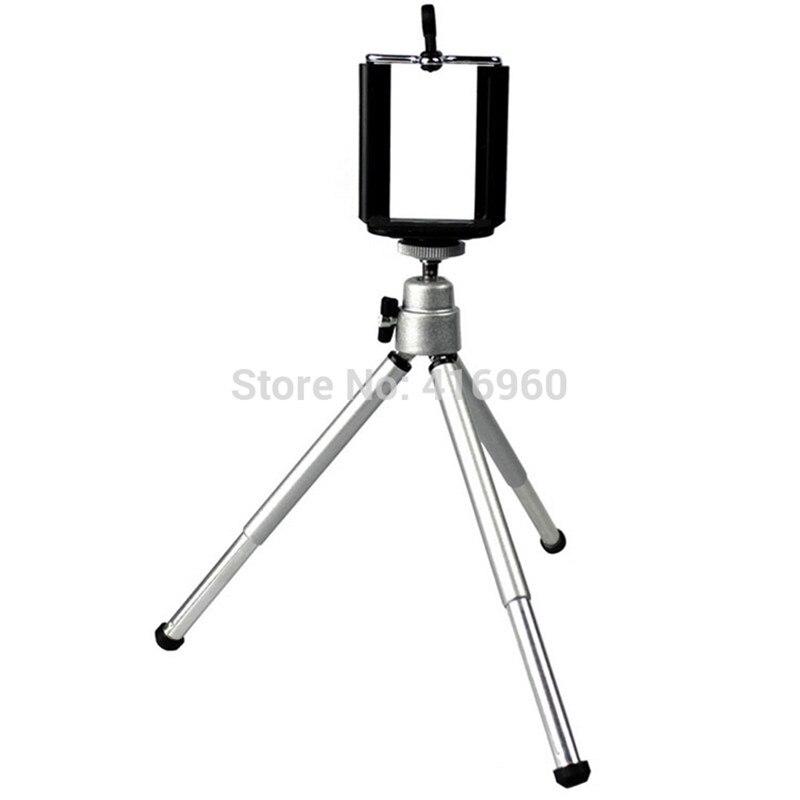 Mini Tripod Professional Aluminum Flexible Light Tripe Camera Stand Tripod+ Phone Clip For IPhone Sony HTC Nikon Canon Webcams